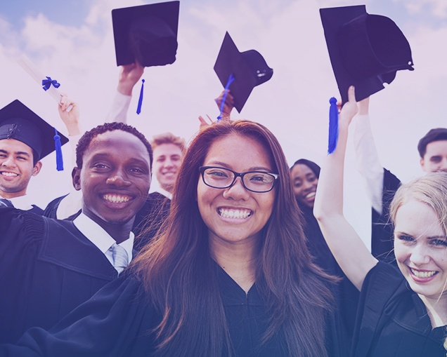 Image of a group of recent high school graduates from a video inside of virtualjobshadow.com's online career exploration platform.